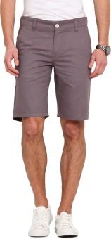 Ennoble Solid Men's Grey Basic Shorts