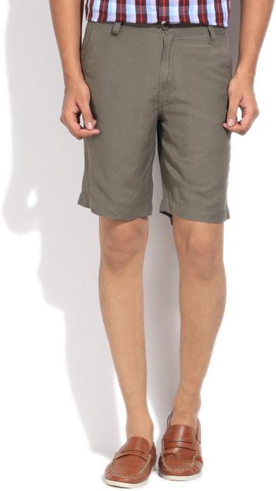 Wear Your Mind Solid Men's Linen Basic Shorts