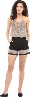 STYLEBAY Solid Women's Black, Multicolor Basic Shorts