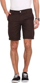 Ennoble Solid Men's Brown Basic Shorts