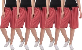 Dee Mannequin Solid Women's Red, Red, Red, Red, Red Basic Shorts