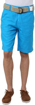 Wear Your Mind Linen Solid Men's Linen Basic Shorts