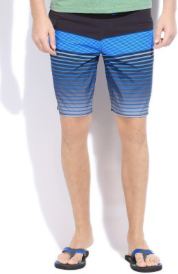 Quik Silver Quiksilver Striped Men's Boxer Shorts (Black)