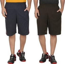 SST Solid Men's Dark Blue Basic Shorts