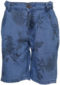 Tales & Stories Floral Print Boy's Denim Bermuda Shorts