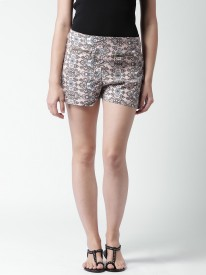 Mast & Harbour Printed Women's Denim Shorts