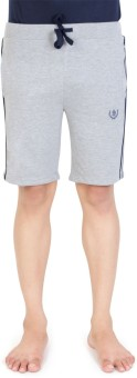 Bongio Solid Men's Grey Basic Shorts
