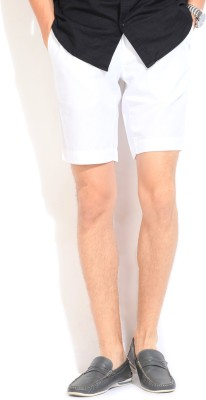 Blackberrys Blackberrys Solid Men's Shorts (White)