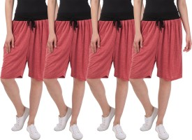 Dee Mannequin Solid Women's Red, Red, Red, Red Basic Shorts
