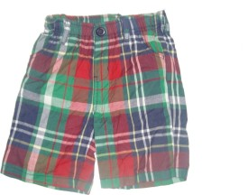 Cub Checkered Baby Boy's Multicolor Basic Shorts