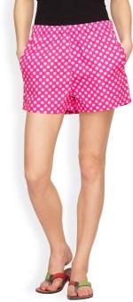 Hypernation Polka Print Women's Basic Shorts - SRTE7H9UCHVV8E4Z