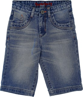 Super Young Solid Boy's Denim Denim Shorts