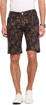 Ennoble Printed Men's Purple Basic Shorts