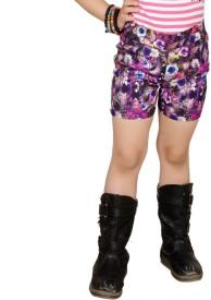 Pretty Angel Printed Girl's Basic Shorts