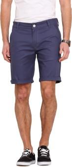 Ennoble Solid Men's Blue Basic Shorts