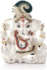 Episode Silver Plated Ganesha With Pillow
