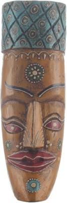 Apkamart Tribal Mask Yellow Colour 12 Inch