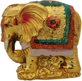 Aaradhi Divya Mantra Feng Shui Bejeweled Elephant For wish Fulfilment Showpiece - 8.5 cm