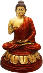 StatueStudio Buddha Sitting Golden Red