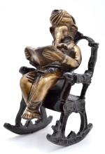 Handecor Ganesha On Rocking Chair