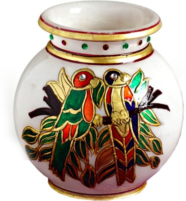 Aapno Rajasthan Marble Pot With Gold Work