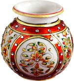 Aapno Rajasthan Gold Work Marble Pot