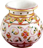 Aapno Rajasthan Jaal Design Gold Work Marble Pot