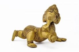 Redbag Crawling Laddu Ganesh Showpiece  -  7.62 cm