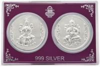 Siri Creations Silver Lakshmi,Ganesha Coin Box Showpiece  -  6.5 Cm Silver, Silver