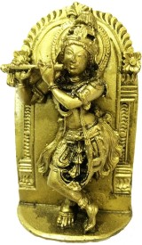 Matchless Gifts Murli Manohar Golder Color Krishna Idol By Returnfavors Showpiece  -  9 cm