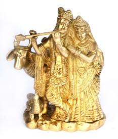 SKM Brass Idol Radha Krishna Spl 2 Showpiece  -  16.51 cm