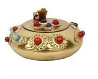 Pioneerpragati Pure Gemstone Handicraft Gift Gold Brass Ashtray (Pack Of 1)