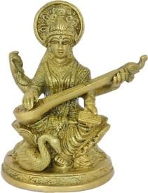 Kriti Creations Brass Saraswati Showpiece  -  13 cm