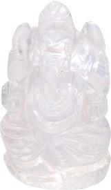 Natural Gems Crystal Quartz Lord Ganesha Showpiece  -  5.33 cm