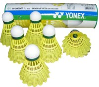 Yonex Mavis 2000 Nylon Plastic Shuttle  - Yellow (Slow, 67, Pack Of 6)