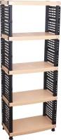 Surprise Heavy Duty File Shelf Plastic Bedside Table (Finish Color - Beige)