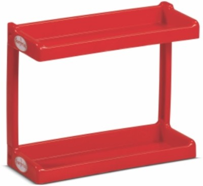 SURPRISE Heavy Duty Bathroom Shelf Plastic Side Table (Finish Color - Red)