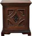Hometown Cypress Night Stand Mango Wood Bedside Table (Finish Color - Walnut)