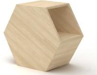 FURNSYSTEM Hextab Engineered Wood Bedside Table (Finish Color - Beige)
