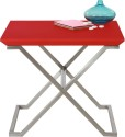 Lekiaan Plywood Side Table (Finish Color - Red Matt And SS Matt)