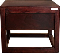 Godrej Interio Avana Solid Wood Bedside Table (Finish Color - Medium Brown)