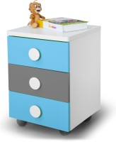 Alex Daisy Solo Engineered Wood Bedside Table (Finish Color - Blue - Grey - White)