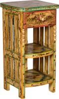 Rishabh Art Solid Wood Bedside Table (Finish Color - Beige)