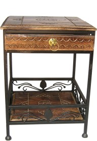 Acme Production Drawer Side Stool Metal Side Table