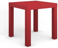 Housefull Engineered Wood Side Table (Finish Color - Red)