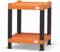 Surprise Heavy Duty Square Teapoy Plastic Bedside Table (Finish Color - Orange)