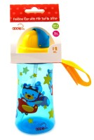 Apple Baby Feeding Cup With Flip Top & Strap (Blue)