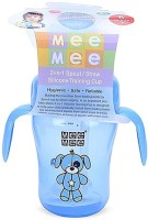 Mee Mee 2-in-1 Spout / Straw Silicone Training Cup (Blue)
