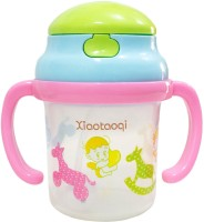 Rachna Baby / Infant 02 PP Water / Juice Training Straw Sipper Cup With Handle - 180ML (Multicolor)