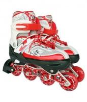 DEZIRE KKONEX In-line Skates - Size 7-9 UK (White, Red)